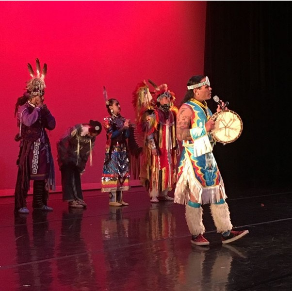 SchoolTime performance with Red Hawk Native American Dancers at Kumble Theater, Nov 14