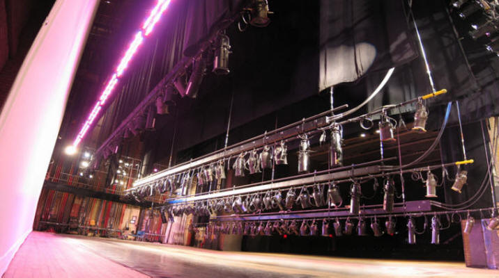 The Great Stage -- theatrical lighting instruments.